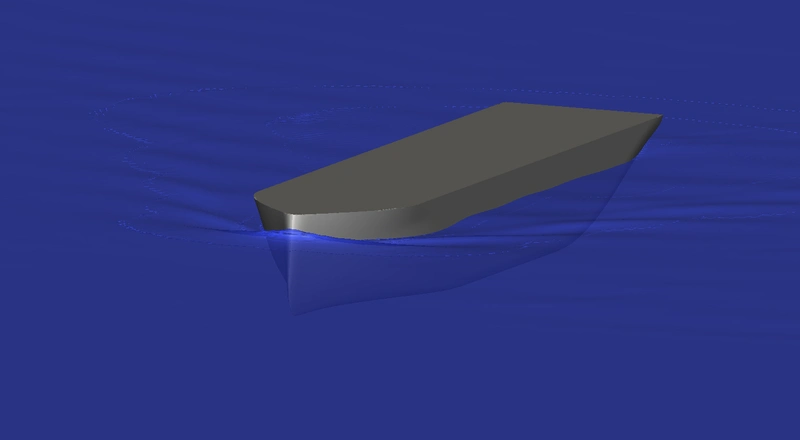 Smooth wave profile along the hull (Image courtesy of Foreship
