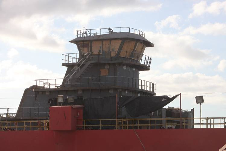 Sneed Shipbuilding's specialty is 2,000 to 3,000 hp towboats (above), said Mitch Jones.