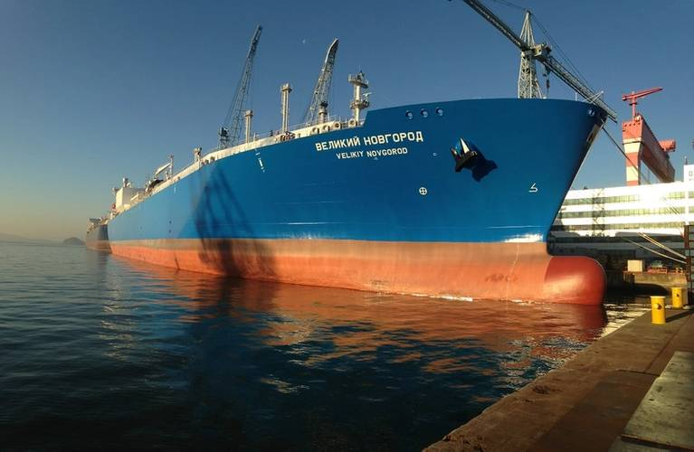 Sovcomflot's Velikiy Novgorod LNG carrier