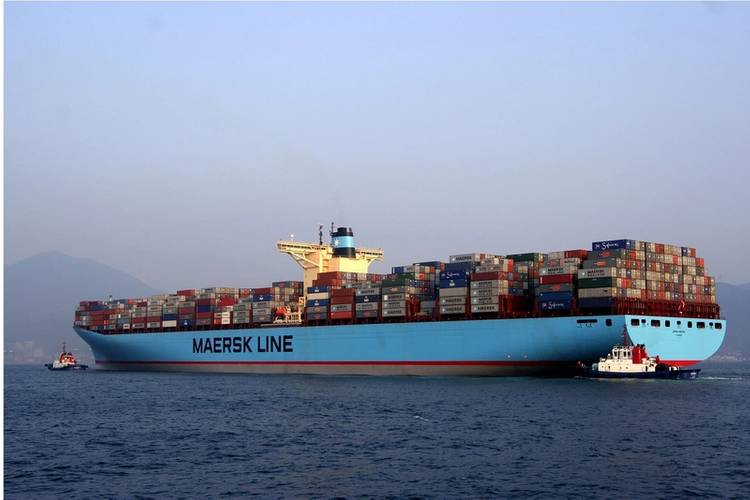 First generation Triple-E containership Emma Maersk (Photo: Maersk Group)