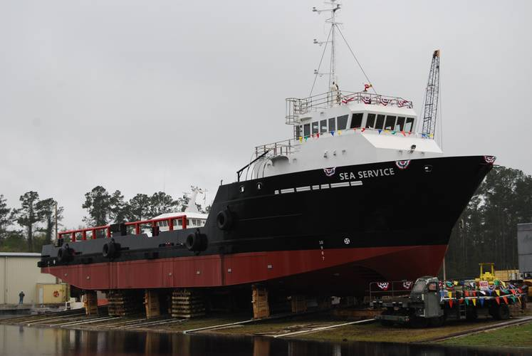St. Johns Ship Building of Palatka, Fla., delivered the Sea Service, a 157-ft. offshore service vessel (OSV) for A. R. Singh Contractors Ltd. The vessel is an addition to the A. R. Singh Contractors Ltd. fleet and will expand the company's reach into the Caribbean offshore market.