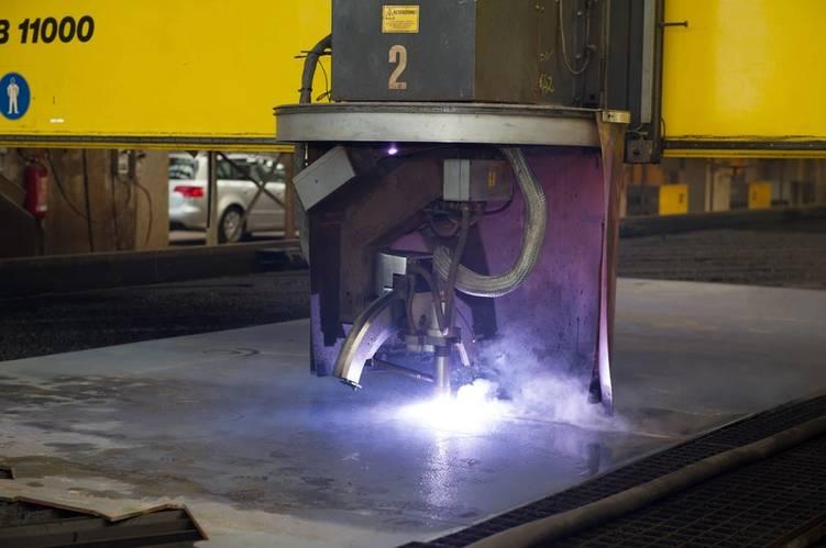 Steel cutting for Seaburn Ovation Courtesy Fincantieri