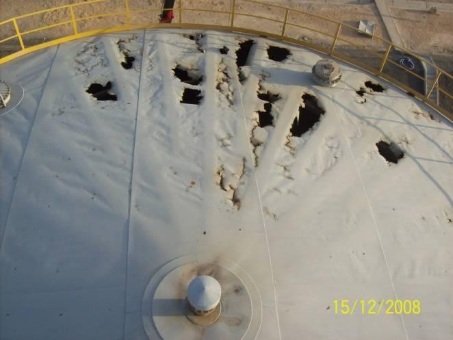 Storage tank roof repaired using Belzona