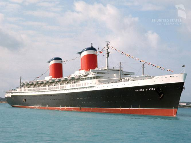 That was then ... the SS United States on a cruise to St. Thomas, 1966. The SS United States took 23 cruises during her service career, in addition to 400 round-trip transatlantic crossings.