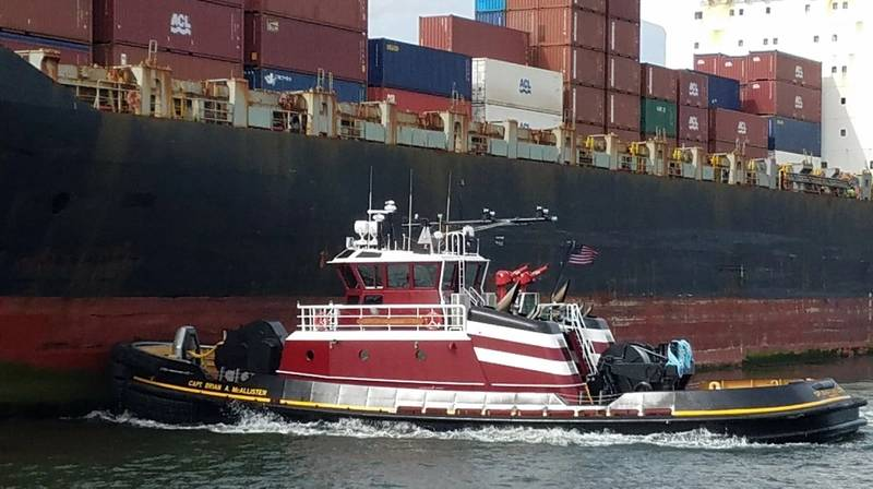 The Capt. Brian A. McAllister is named after the company's Chairman, and is the 31st and most powerful tractor tug in McAllister's fleet. (Photo: McAllister Towing)