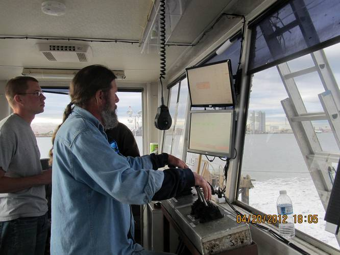 The captain of the pump barge who sprayed the sand onto the CDF to cap it.