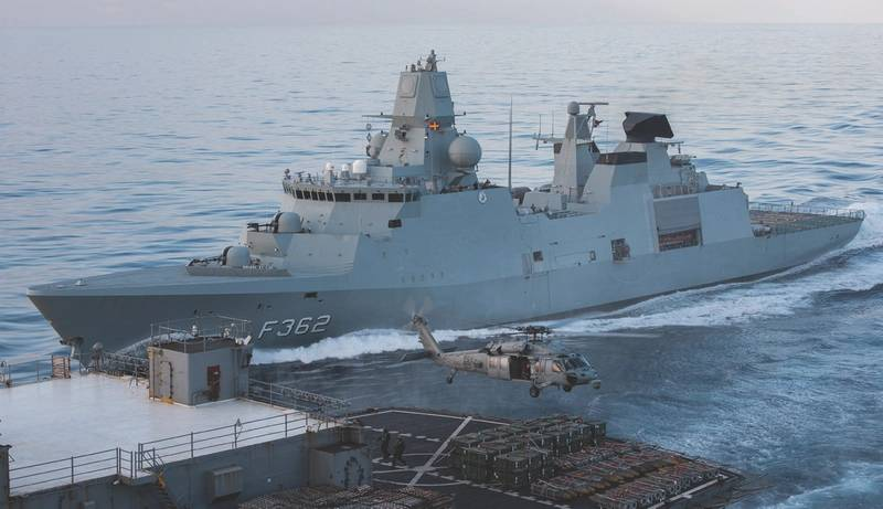 the danish navy frigate hdms peter willemoes f362 seen here operating as a