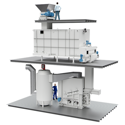 The Evac cyclone incinerator is a furnace designed for burning dry waste, wet waste, sludge oil, and most kinds of solid waste. (Image: Evac)