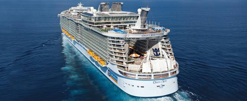 The first of Royal Caribbean's Oasis class, Oasis of the Seas, was introduced in 2009. (Photo courtesy of Royal Caribbean)