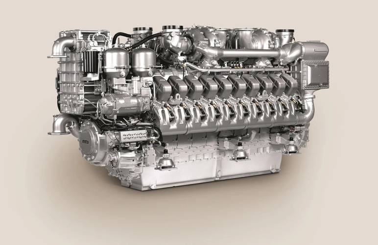 The four MTU diesel gensets on board each Type 26 Global Combat Ship are based on 20V 4000 M53B engines, each delivering 3,015 kW of mechanical power. (Image: MTU)