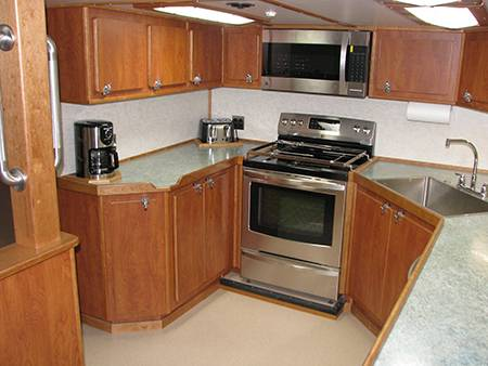 The galley interior was updated while the Miss Berdie was in the yard.