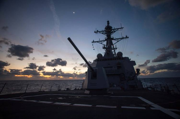 The guided missile destroyer John Finn (DDG 113) recently completed the last of three planned sea trials and is scheduled for delivery to the U.S. Navy in December. (Photo: Andrew Young/HII)