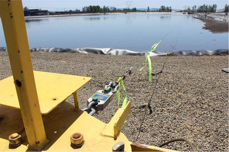 The lagoons (or ponds) at the facility measure are 675 ft. long by 275 ft. wide. (Photo: Straightpoint)
