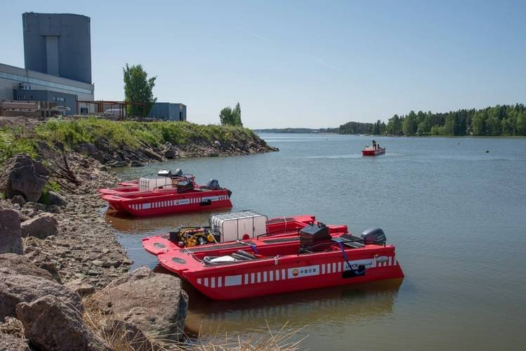 The Lamor Seahunters were recently taken out for testing near the Lamor Headquarters in Porvoo, Finland. (Photo: Lamor Corporation)