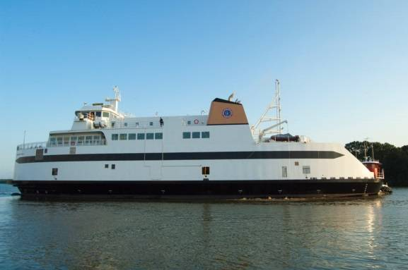 The M/V Woods Hole, a 235-foot long passenger ferry built for the Steamship Authority of Woods Hole, Mass. (Photo: Conrad Shipyard)