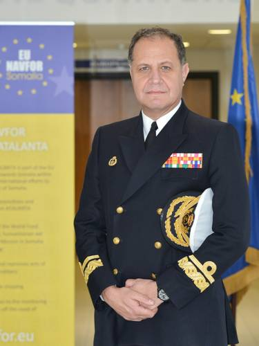 The New Deputy Operational Commander to Rear Admiral Bartolomé Bauzá (Spanish Navy) (Photo courtesy EU NAVFOR)