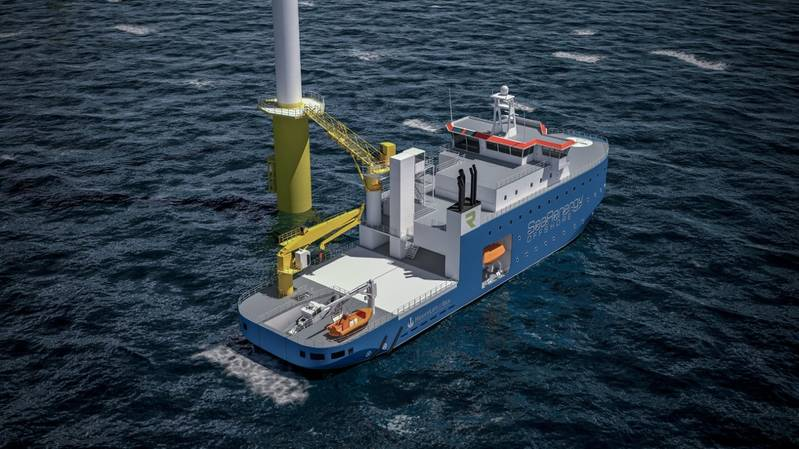 The new OAV-SR1 (Offshore Assistance Vessel) is a further development of Service Operation Vessels (SOV). (Image: SeaRenergy Offshore)