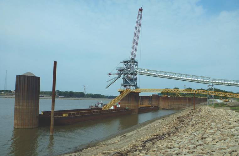 The new South Harbor of America's Central Port, located just north of downtown St. Louis in southwestern Madison County, Illinois. Significant TIGER grants from the U.S. Department of Transportation helped make this possible. (Photo: America's Central Port)