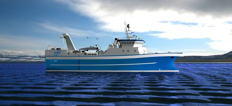 The new trawler for Vinnslustodin hf. and Hradfrystihusid Gunnvör was designed by Skipasýn and will be built by Huanghai Shipbuilding Co. Ltd. (Image: MAN)