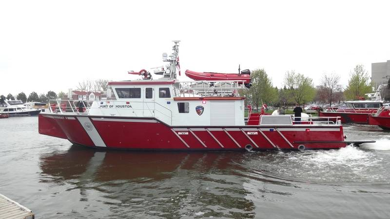 The Port of Houston's new emergency response boat (Photo courtesy MetalCraft Marine)