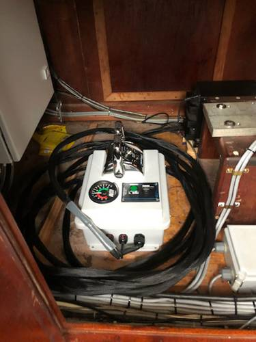 The remote control unit stored in the wheelhouse. Courtesy of The Boat Company