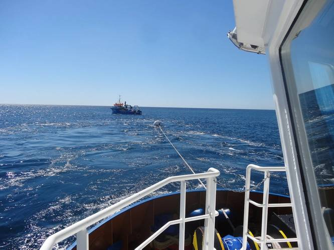 The RLP was used to measure pre-tension up to 30t to check new anchors were properly installed into the seabed. (Image: Iroise Mer/Straightpoint)