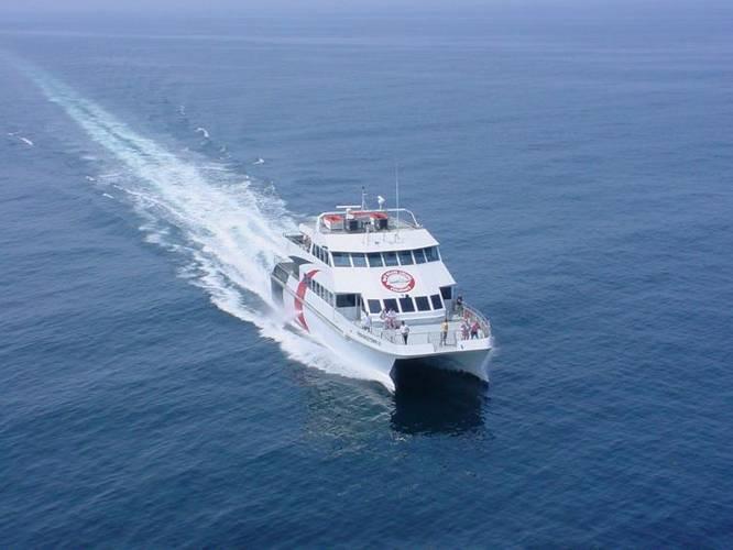 The seasonal ferry underway (CREDIT: Cross Bay Ferry)
