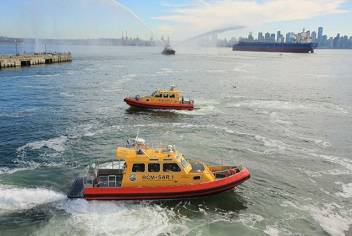 The Seaspan Eagle and RCM-SAR vessels in action