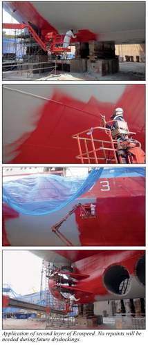 The second layer of Ecospeed is applied (Photo: Hydrex)