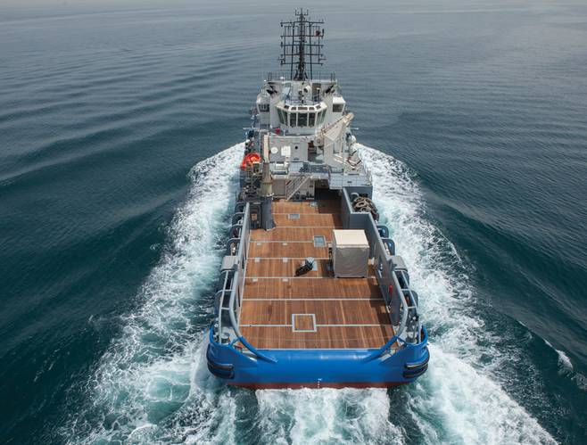 The Seismic Support Vessel Bourbon Petrel at sea.  (Photo: Bourbon)