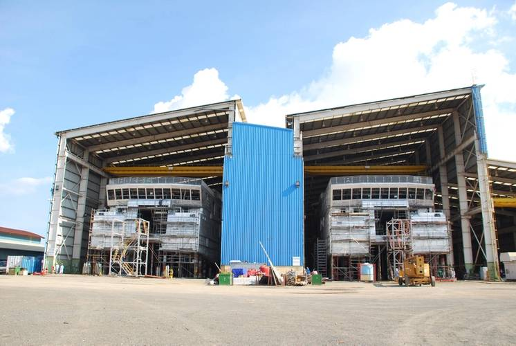 The two catamarans are currently being built by Strategic Marine's shipyard in Vietnam for the Dutch shipping company Doeksen. (Photo: Rolls-Royce)