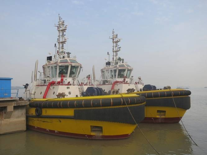 The two tugs at Zhenjiang Shipyard PhotoRobert Allan