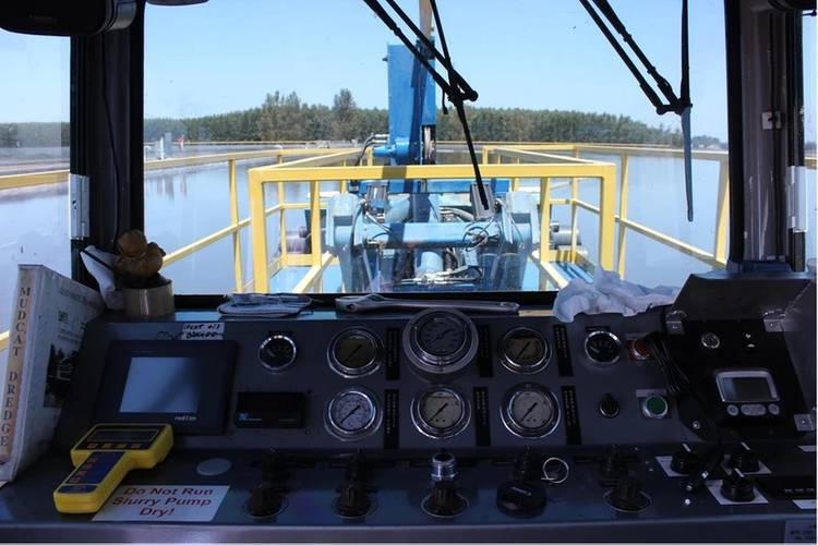 The view from the dredge cabin. (Photo: Straightpoint)