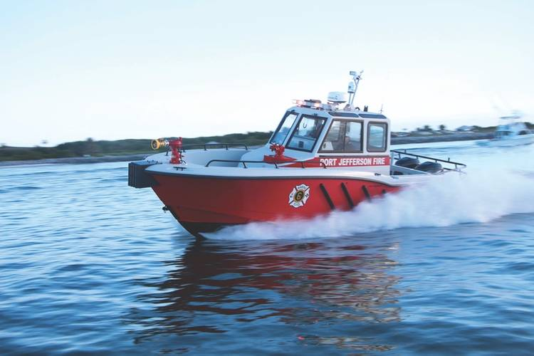 """This boat's configuration is unique in the fact that it's been set up to handle multi-mission capabilities, from fire suppression, to search and rescue as well as EMS work,"" said. ""We recently delivered the boat and I know it will serve the community of Port Jefferson well for many years to come."" – BCGP Sales Manager, Dana White"