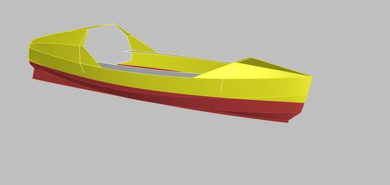 This image shows the 3D surface model of the hull that was created using the point cloud as a reference. Image: EBDG