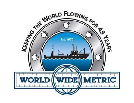 To celebrate its 45th Anniversary, World Wide Metric commissioned the design of a special anniversary logo. Designed by New Jersey marketing firm Dark Horse Design, the logo pays tribute to the company's long-standing commitment to serving the maritime industry. (Photo: World Wide Metric)