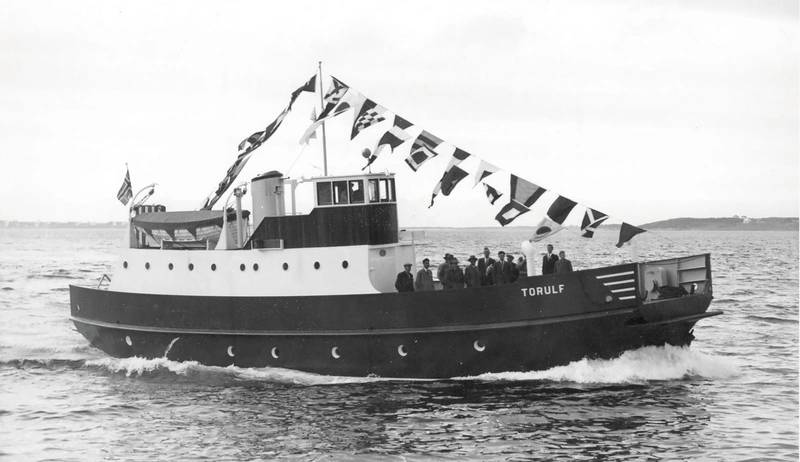 Torulf, first steel ferry, built in 1957. (Photo: Ulstein)