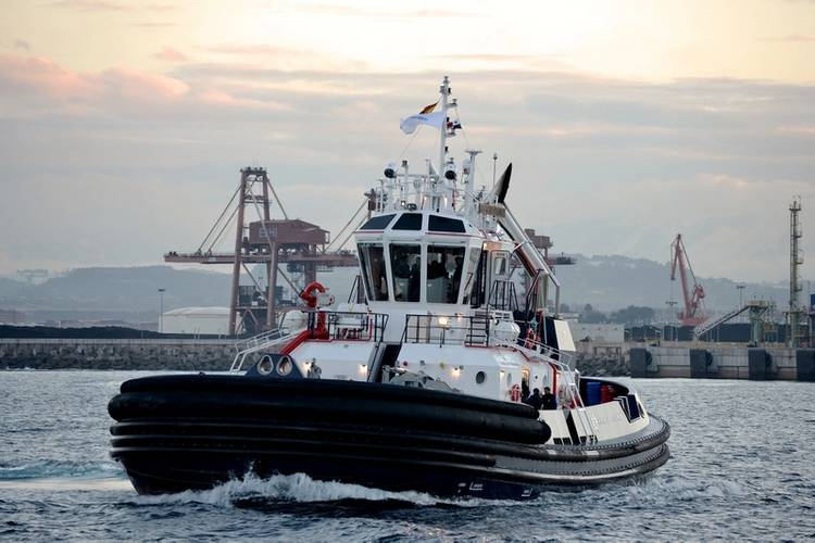 Tractor tug Cerro Itamut 2 x SCHOTTEL SRP 2020 © Astilleros Armon, Spanien: Cerro Itamut – one of 14 tractor tugs for the Panama Canal Authority propelled by two SRP 2020.
