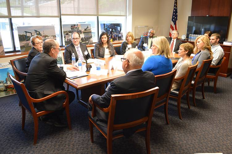 Attendees at the Cleveland-Cuyahoga County Workforce Investment Board roundtable discussion hosted at The Great Lakes Towing Company's headquarters in Cleveland, Ohio (Photo: The Great Lakes Group)