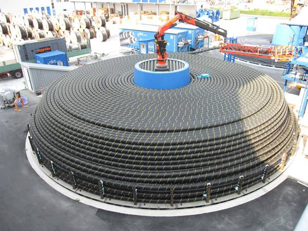 Turntable NKT Cables Logistics Center (Photo NKT)