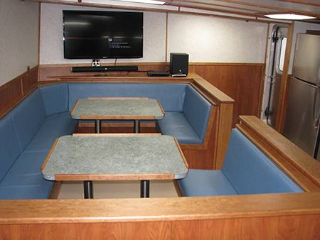 Twin table provide easy access for a larger crew.