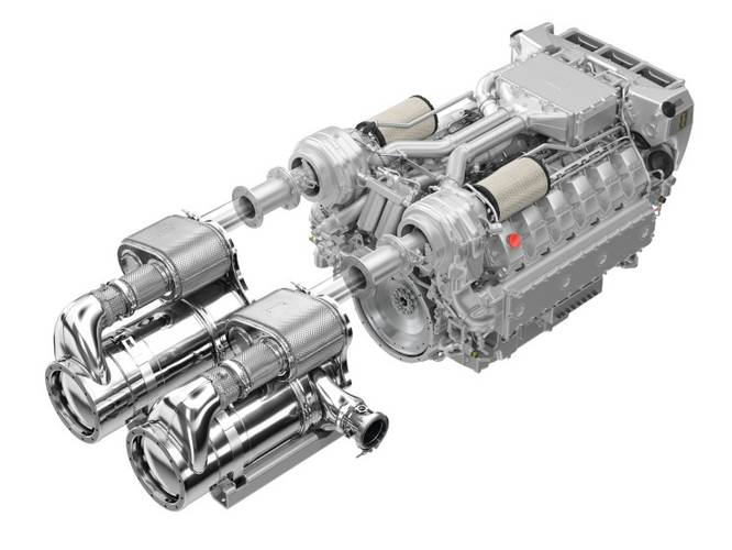 Two of the countless variants that are possible thanks to the installation flexibility of MAN En-gines' modular exhaust gas aftertreatment system, which provides maximum versatility.