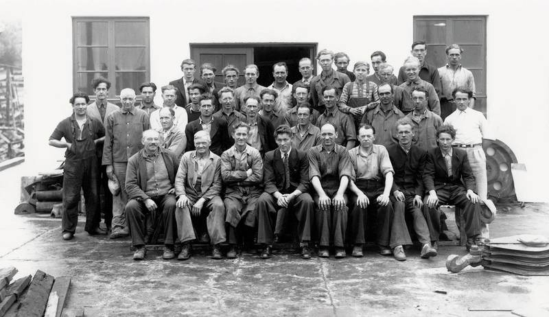 Ulstein mek verksted 1948 work force. (Photo: Ulstein)