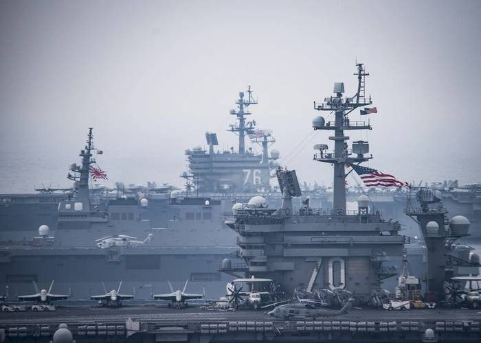 U.S. Navy forces and the Japan Maritime Self-Defense Force routinely train together to improve interoperability and readiness to provide stability and security for the Indo-Asia Pacific region. (U.S. Navy photo by Z.A. Landers)