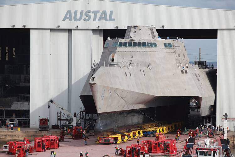 (U.S. Navy photo courtesy Austal USA/Released)