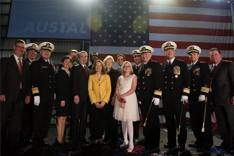 USNS Carson City (EPF 7) christening ceremony participants Photo Austal