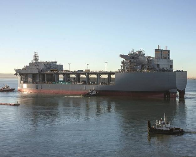 USNS Lewis B. Puller (MLP 3 AFSB) was floated out in late 2014 (Photo: Greg Trauthwein)