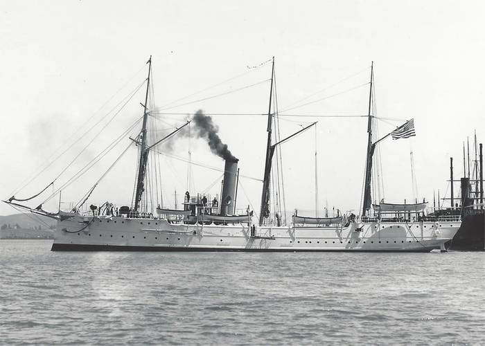 USRC Cutter McCulloch was constructed by William Cramp and Sons Ship and Engine Building Company in Philadelphia. Launched in 1896, it was the largest cutter built to date at a cost of over $200,000. McCulloch maintained the distinction as the largest revenue cutter, and later USCG cutter, during its 20-year career. (Credit: Mare Island Museum)
