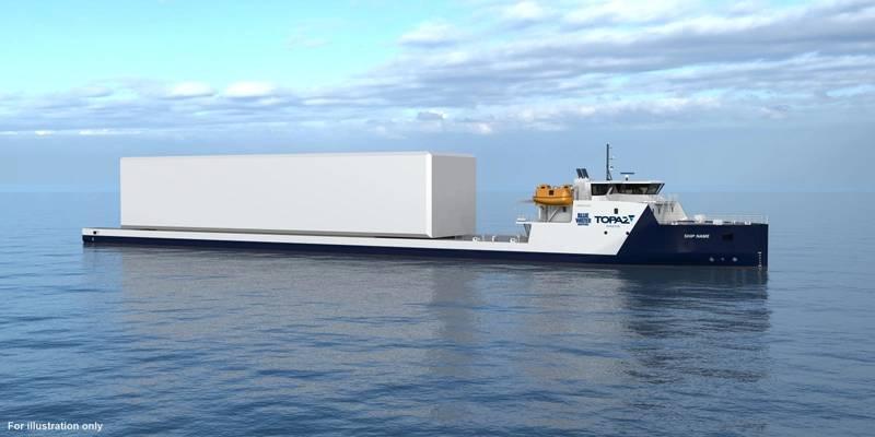 VARD 9 21 - Module Carrier Vessel for Topaz Energy and Marine. (For illustration only, courtesy VARD)
