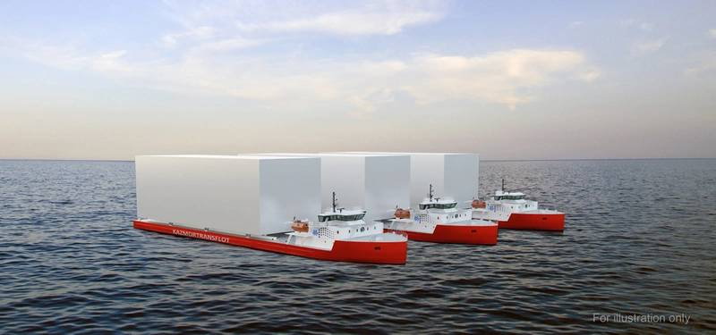 VARD 9 28 - 3 Module Carrier Vessels for KMTF. (For illustration only, courtesy VARD)